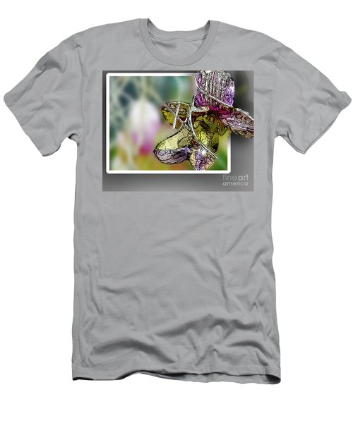 Purple Orchid Pop Men's T-Shirt (Slim Fit) by Deborah Nakano