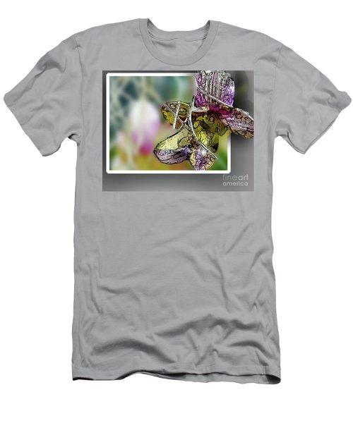 Purple Orchid Pop Men's T-Shirt (Athletic Fit)