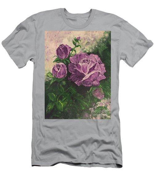 Purple Passion Men's T-Shirt (Slim Fit) by Lucia Grilletto