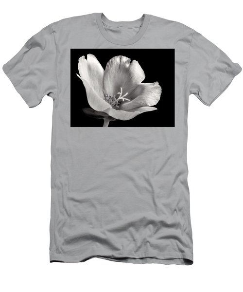 Men's T-Shirt (Slim Fit) featuring the photograph Purslane In Monochrome by David and Carol Kelly