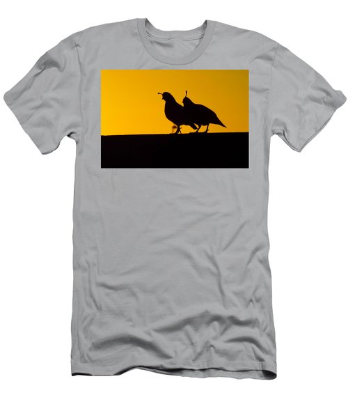 Quail At Sunset Men's T-Shirt (Athletic Fit)