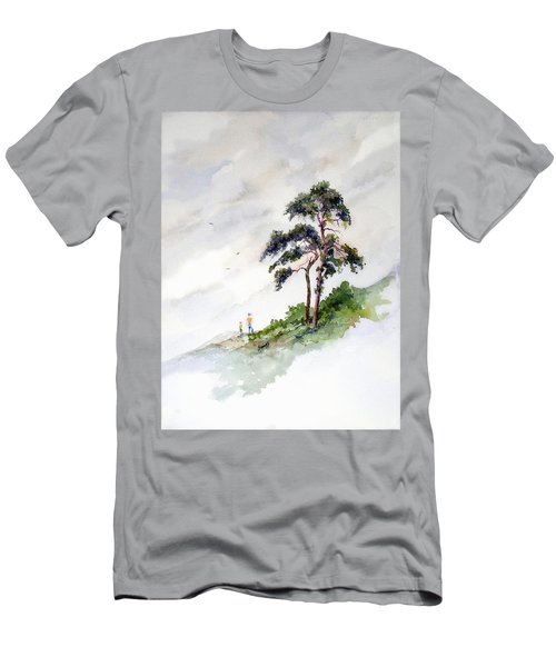 Men's T-Shirt (Athletic Fit) featuring the painting Quality Time by Sam Sidders