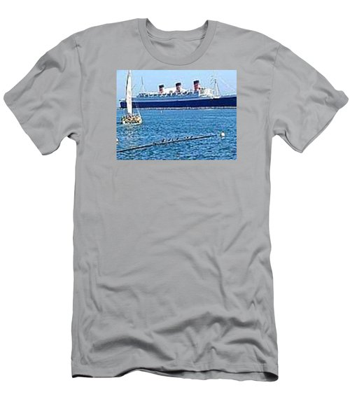 Queen Mary Men's T-Shirt (Slim Fit) by James Knecht
