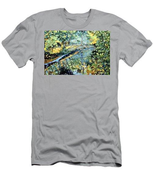 Quiet Stream Near Milk House Men's T-Shirt (Athletic Fit)