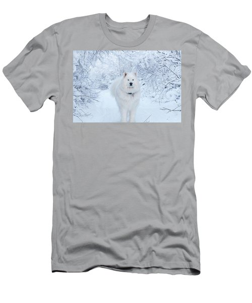 Quinn The Mighty Samoyed Men's T-Shirt (Athletic Fit)