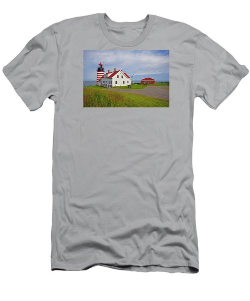 Quoddy Head Lighthouse Men's T-Shirt (Athletic Fit)