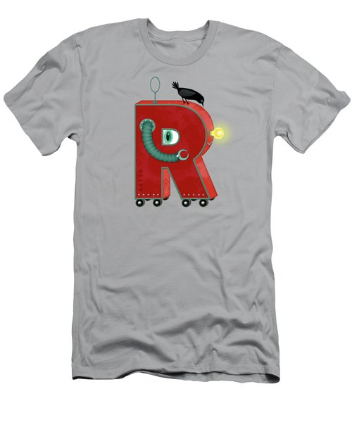 R Is For Robot Men's T-Shirt (Athletic Fit)