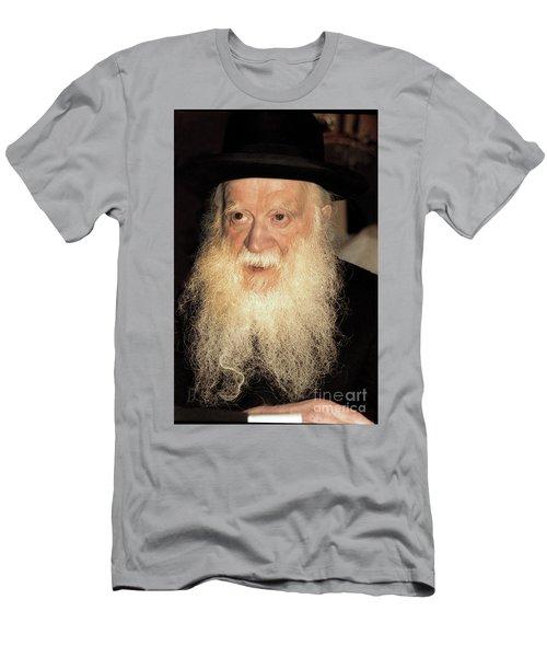 Men's T-Shirt (Slim Fit) featuring the photograph Rabbi Yehudah Zev Segal by Doc Braham