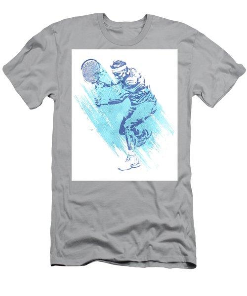 Rafael Nadal Tennis Water Color Art 1 Men's T-Shirt (Athletic Fit)