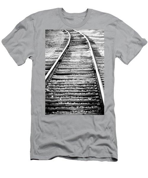 Railroad Tracks IIi Men's T-Shirt (Athletic Fit)