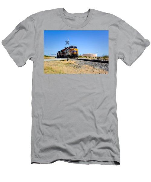Railway Crossing Men's T-Shirt (Athletic Fit)