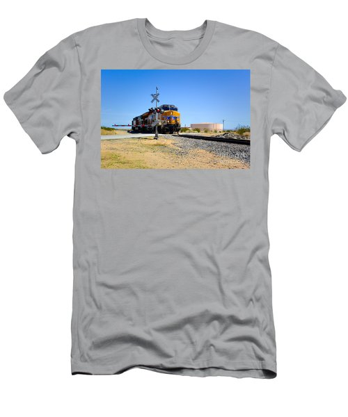 Railway Crossing Men's T-Shirt (Athletic Fit)