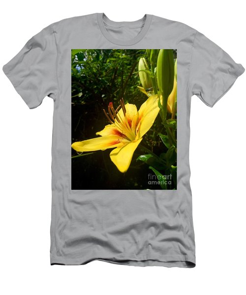 Rain Kissed Tiger Lily Men's T-Shirt (Athletic Fit)