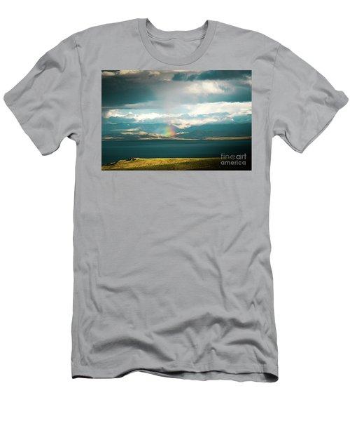 Rainbow Above Lake Manasarovar Kailash Yantra.lv Men's T-Shirt (Athletic Fit)