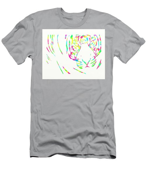 Rainbow Coloured Tiger Men's T-Shirt (Athletic Fit)