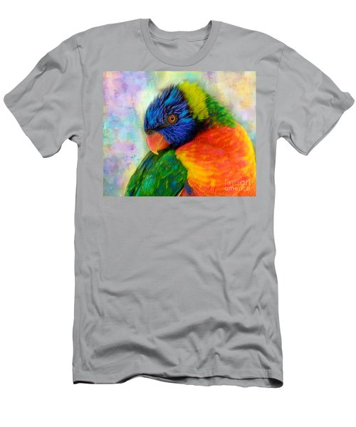 Rainbow Lorikeet Men's T-Shirt (Athletic Fit)