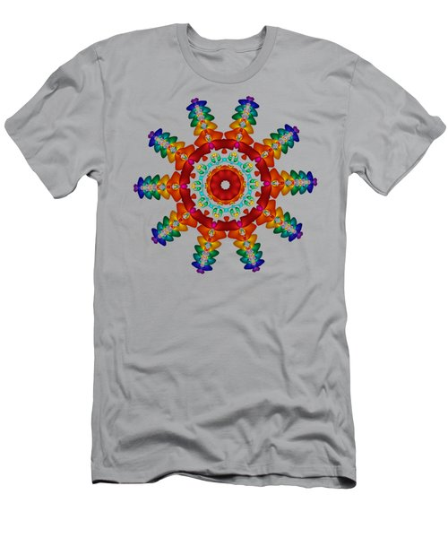 Rainbow Steampunk Sun Fractal Men's T-Shirt (Athletic Fit)