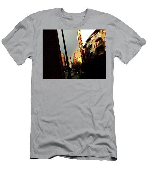 Rainbow Wink Men's T-Shirt (Athletic Fit)