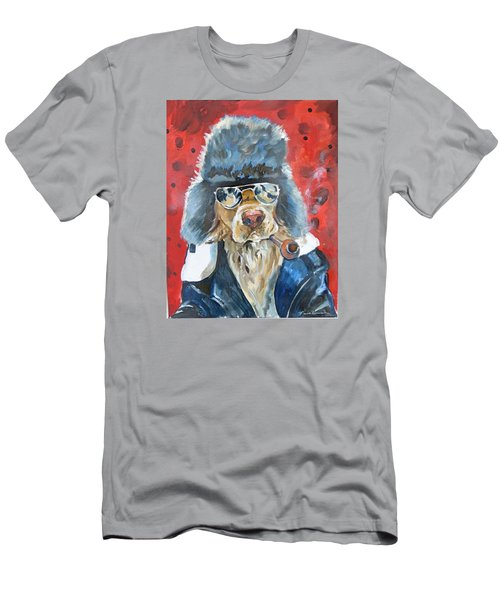 Men's T-Shirt (Slim Fit) featuring the painting Ralph by P Maure Bausch