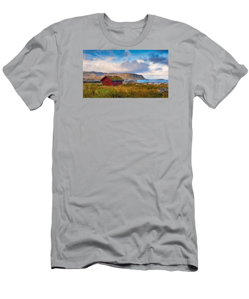 Men's T-Shirt (Athletic Fit) featuring the photograph Ramberg Hut by James Billings