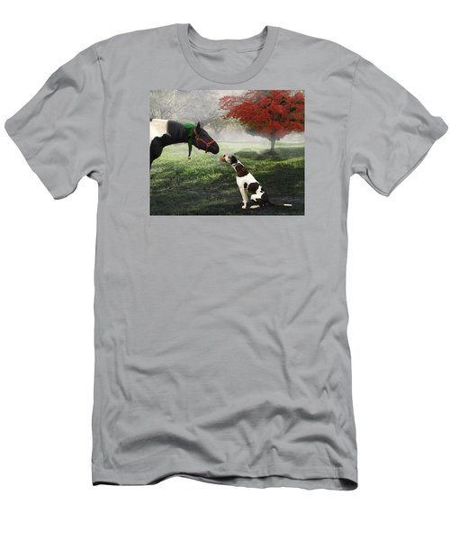 Men's T-Shirt (Athletic Fit) featuring the photograph Ranch Pals by Melinda Hughes-Berland