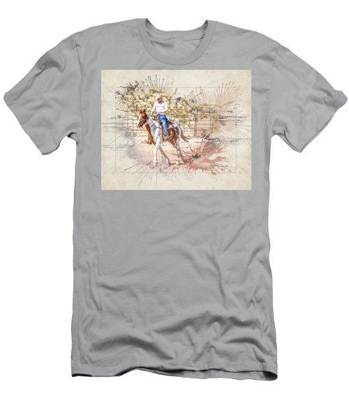 Ranch Rider Digital Art-b1 Men's T-Shirt (Athletic Fit)