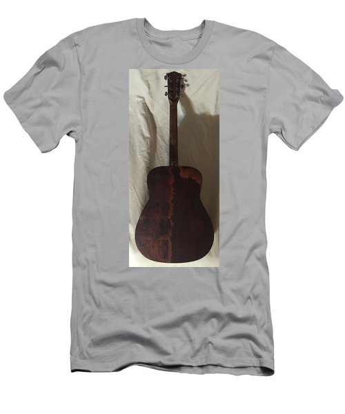 Rat Guitar 2 Back Men's T-Shirt (Slim Fit) by Steve  Hester