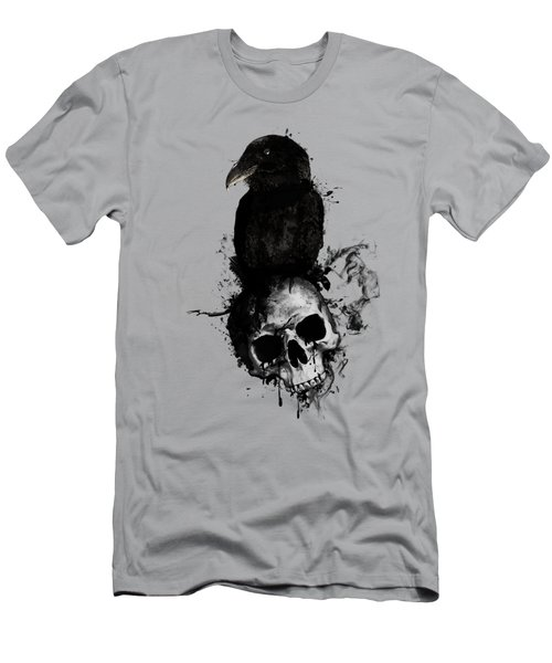 Raven And Skull Men's T-Shirt (Slim Fit) by Nicklas Gustafsson
