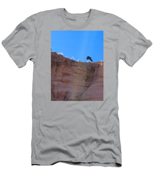 Men's T-Shirt (Slim Fit) featuring the photograph Raven by Brenda Pressnall