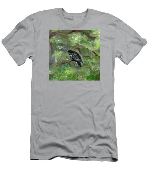Raven In The Om Tree Men's T-Shirt (Slim Fit) by FT McKinstry
