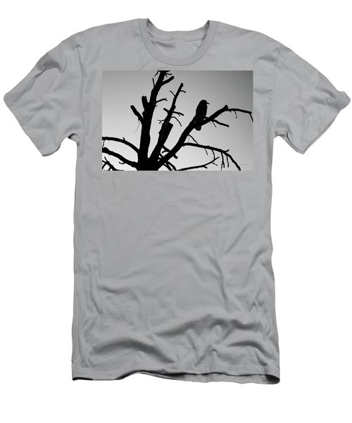 Raven Tree II Bw Men's T-Shirt (Athletic Fit)