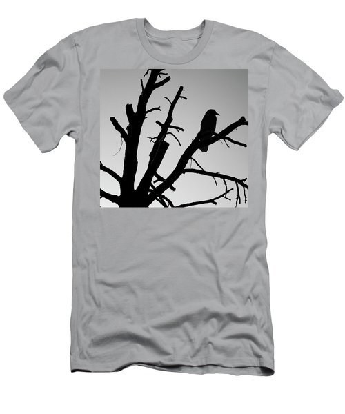 Men's T-Shirt (Athletic Fit) featuring the photograph Raven Tree II Bw by David Gordon