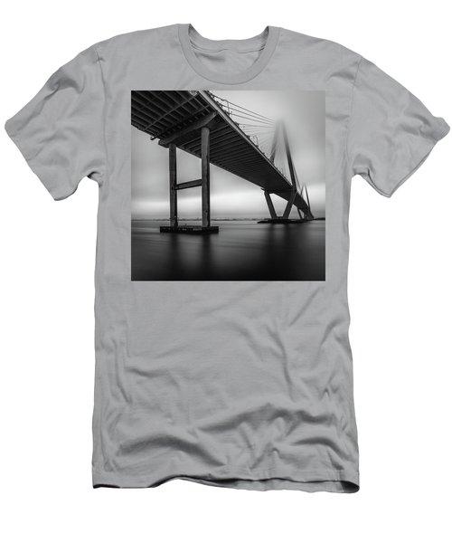 Ravenel Bridge November Fog Men's T-Shirt (Athletic Fit)