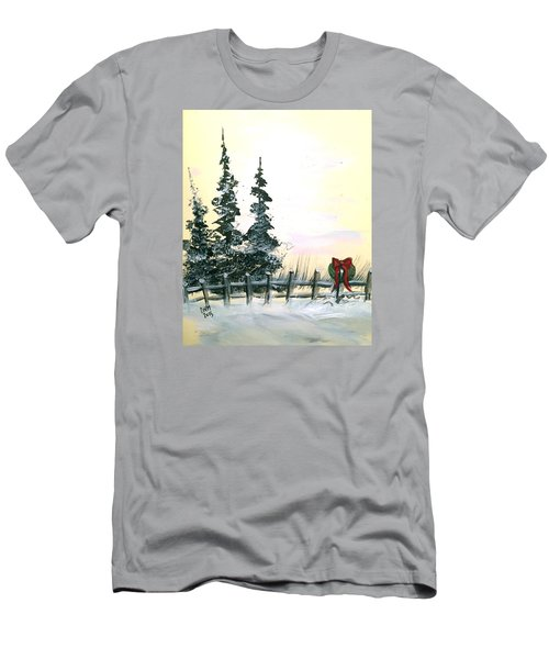 Men's T-Shirt (Slim Fit) featuring the painting Ready For Holidays by Dorothy Maier
