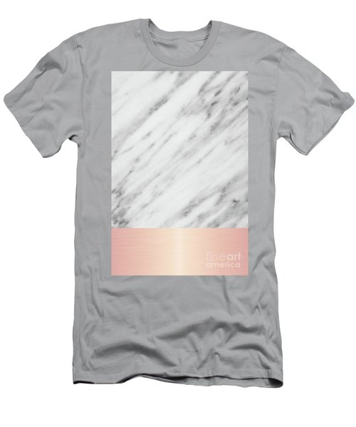 Real Italian Marble And Pink Men's T-Shirt (Athletic Fit)