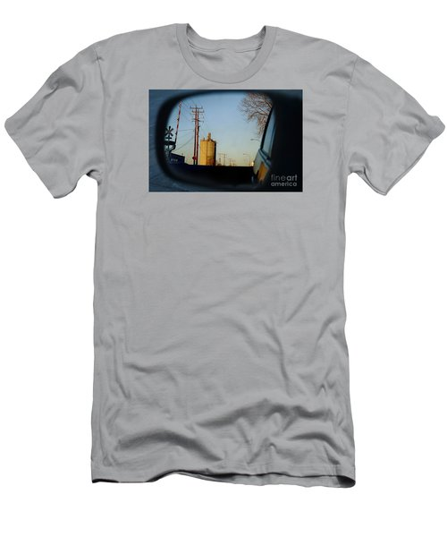 Men's T-Shirt (Slim Fit) featuring the digital art Rear View - The Places I Have Been by David Blank