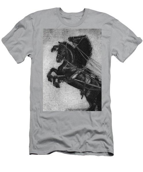 Rearing Horses Men's T-Shirt (Athletic Fit)