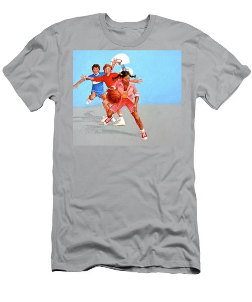 Men's T-Shirt (Athletic Fit) featuring the painting Recess by Cliff Spohn