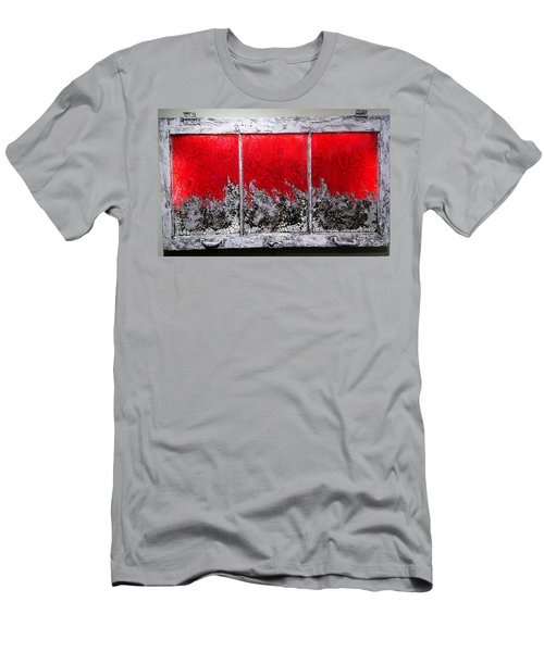 Red And White Window # 1 Men's T-Shirt (Athletic Fit)