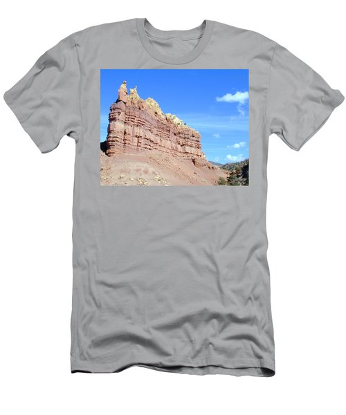 Men's T-Shirt (Athletic Fit) featuring the photograph Red And Yellow Fortress Number 2 by Joseph R Luciano
