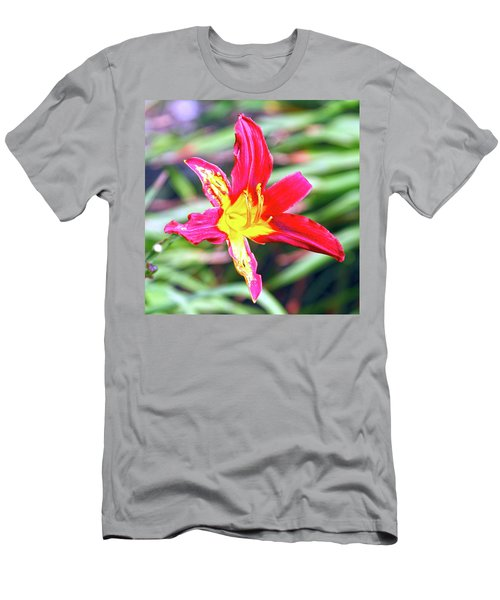 Red And Yellow Orchid Men's T-Shirt (Athletic Fit)