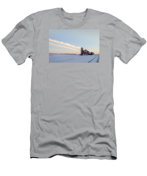 Men's T-Shirt (Slim Fit) featuring the photograph Red Barn by Dan Traun