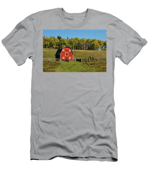 Red Barn On The Hill Men's T-Shirt (Athletic Fit)