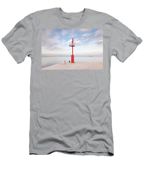 Men's T-Shirt (Athletic Fit) featuring the photograph Red Beacon by Davor Zerjav