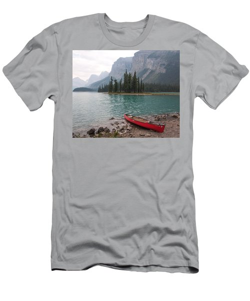 Red Canoe Men's T-Shirt (Slim Fit) by Catherine Alfidi