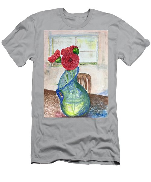 Red Carnations Men's T-Shirt (Athletic Fit)