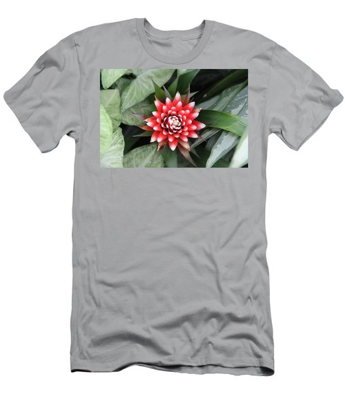 Red Flower With White Tips Men's T-Shirt (Athletic Fit)
