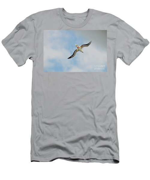 Men's T-Shirt (Slim Fit) featuring the digital art Red Footed Booby Bird 3 by Eva Kaufman