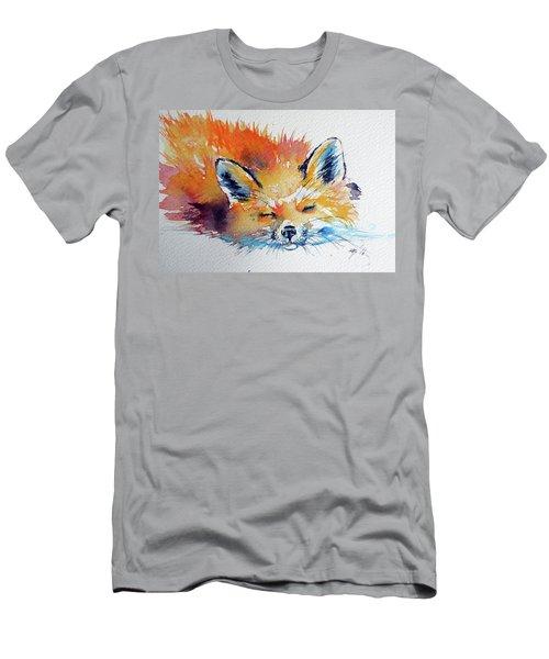 Red Fox Sleeping Men's T-Shirt (Athletic Fit)