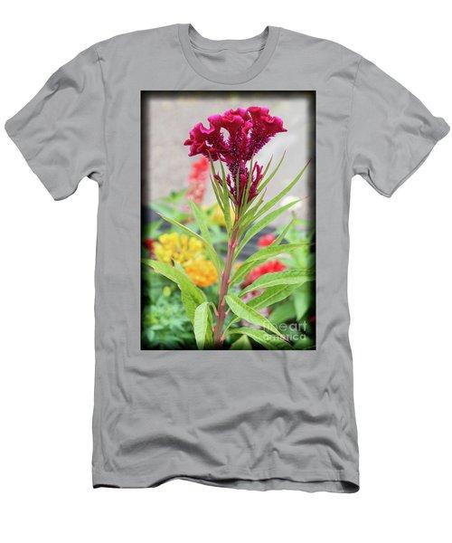 Red Fusion Men's T-Shirt (Slim Fit) by Deborah Klubertanz